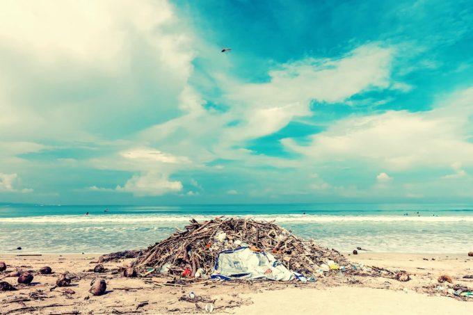Pacific trash vortex, una rappresentazione