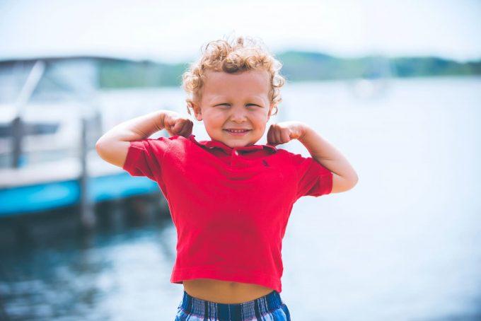 Bambino sano e felice