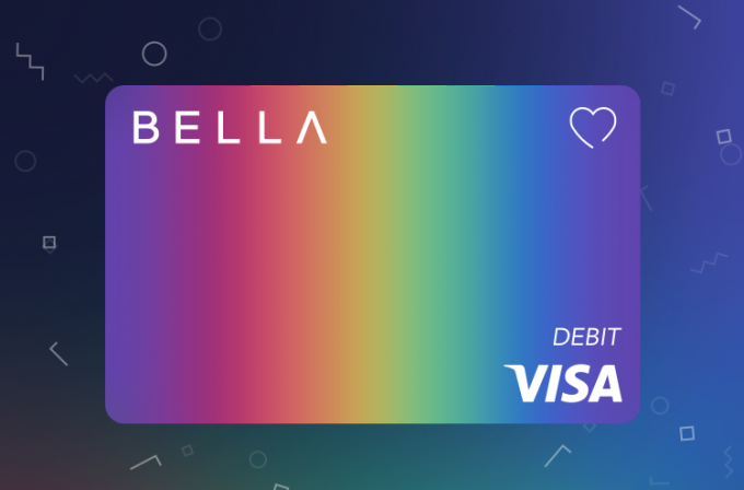Bella Visa Rainbow Debit Card