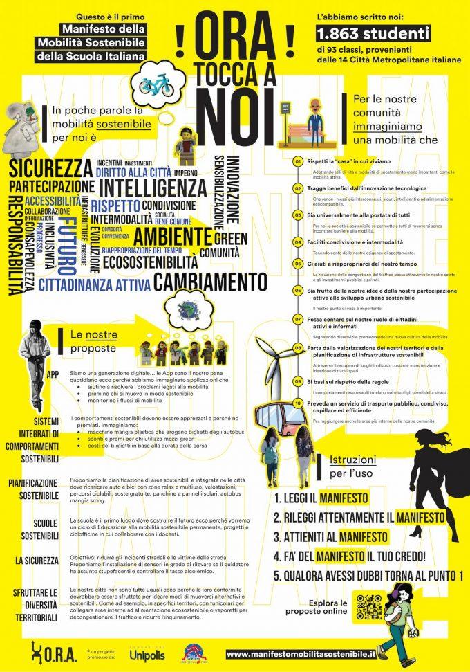 manifesto mobilità sostenibile scuole fondazione unipolis